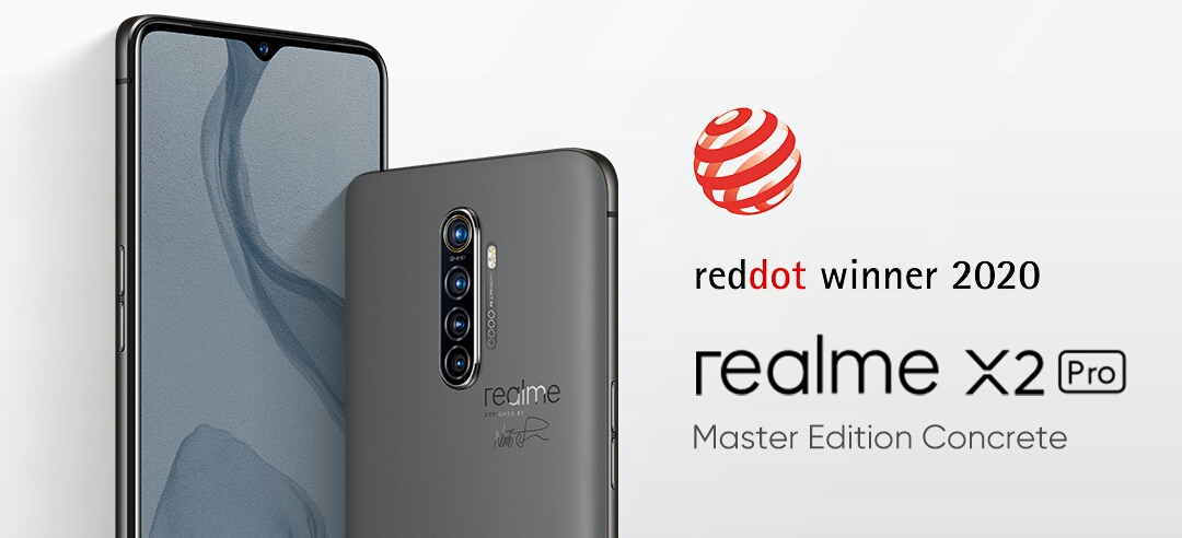 Realme X2 Pro Master Edition Menang Red Dot Design Award