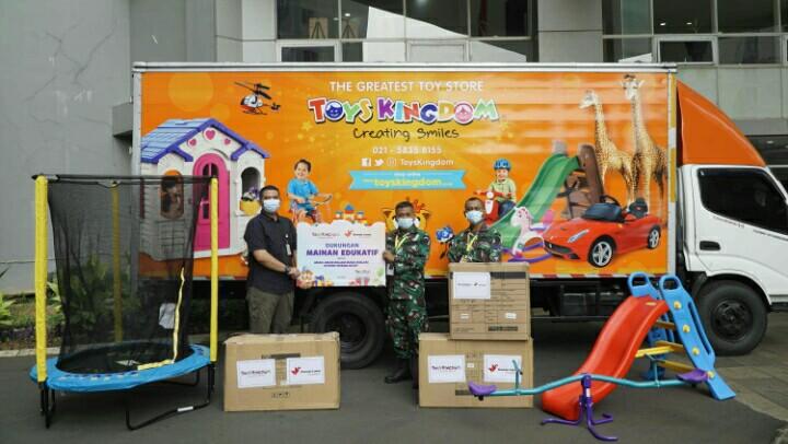 TOYS KINGDOM Beri 3.300 Mainan Edukatif untuk Pasien Anak di Wisma Atlet