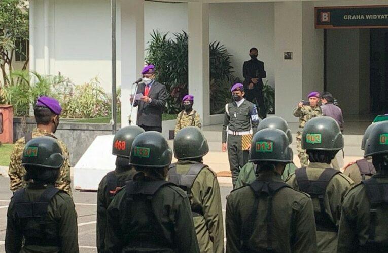 Rektor UTama Sampaikan Rasa Bangga Pada 112 Anggota Menwa Mahawarwan Jabar dan Jambi